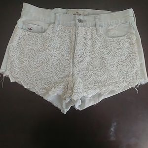 Lacy high rise shorts